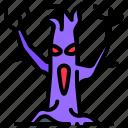 horror, plant, scary, tree