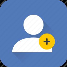account, add, person, profile, seo, user, web icon
