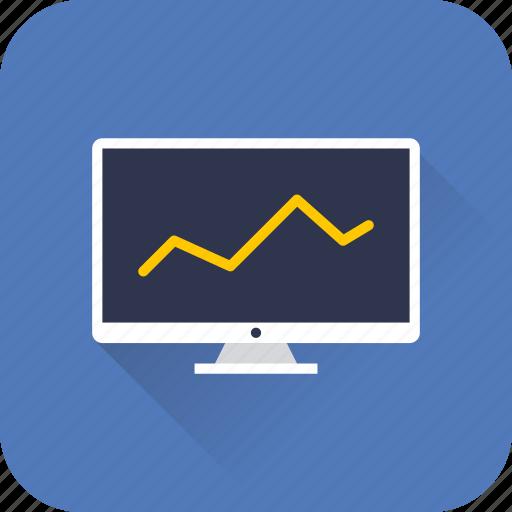 analytics, desktop, diagramm, graph, marketing, seo, statistics icon