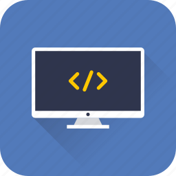 code, computer, desktop, development, seo, technology, web icon