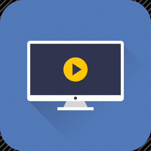 audio, desktop, internet, media, player, video, web icon