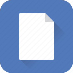 blank, document, file, page, paper, sheet, web icon