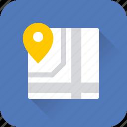 gps, location, map, pin, pointer, seo, web icon