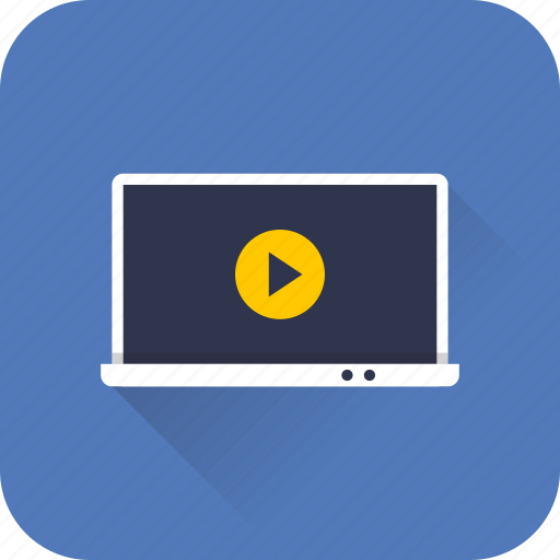 audio, browser, media, notebook, play, video, web icon