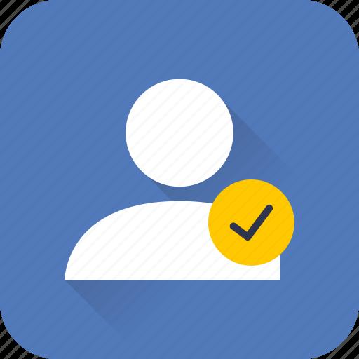 account, person, profile, seo, user, verified, web icon