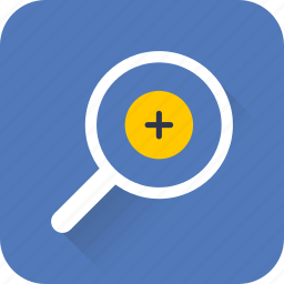 find, glass, in, magnifier, search, web, zoom icon