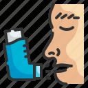 inhaler, asthma, breathing, inhalator, medicine