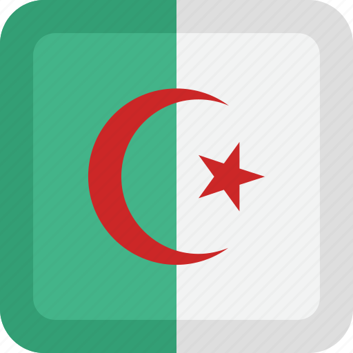 algeria, country, flag, national icon