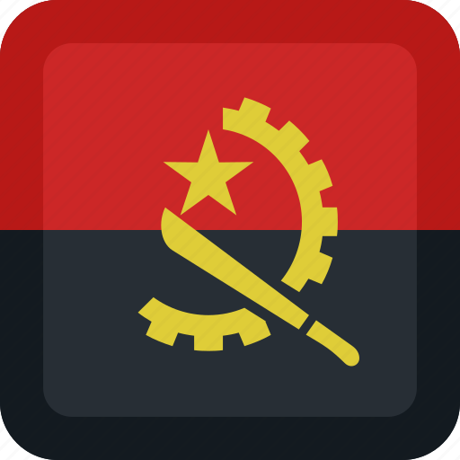 Angola, country, flag, national icon - Download on Iconfinder