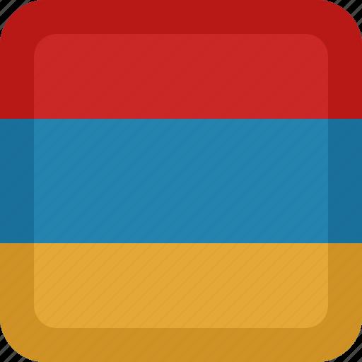 armenia, country, flag, national icon