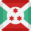 burundi, country, flag, national icon