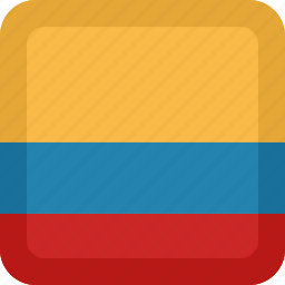 colombia, country, flag, national icon