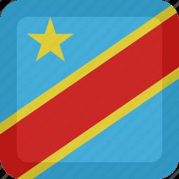 congo, country, flag, national, republic icon