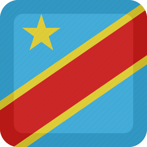 congo, country, flag, national, republic icon