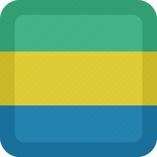 country, flag, gabon, national icon