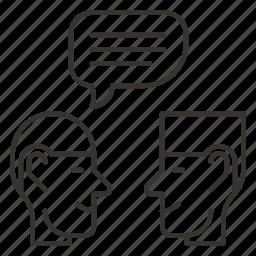 bubble, chat, comment, dialog, message icon
