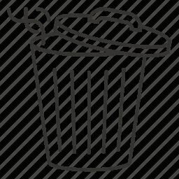 bin, delete, garbage tank, recycle, trash icon