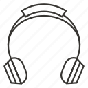 audio, headphone, headphones, headset, music, sound icon