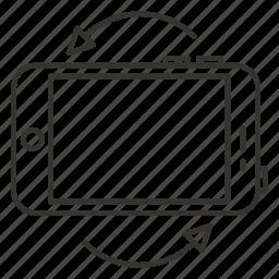 display, iphone, landscape, orientation, rotation, screen rotation, smartphone icon