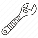adjustable, repair, setting, tool, wrench