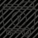folder, key, lock, password, safety, secret, security