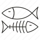 animal, bone, fish, fishing, food, sea, seafood icon