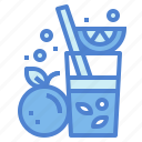 beverage, fruit, juice, orange icon