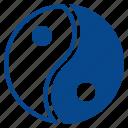 balance, chinese, philosophy, yang, yin icon