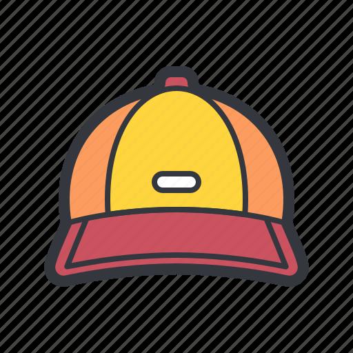baseball, cap, hat, sports icon