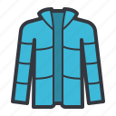 blue, clothes, fashion, jacket icon