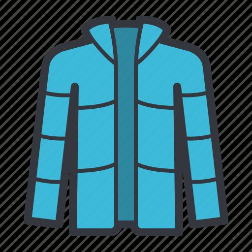 blue, clothes, fashion, jacket icon