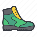 boot, green, shoe, sport icon