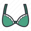 bra, fashion, green, women icon