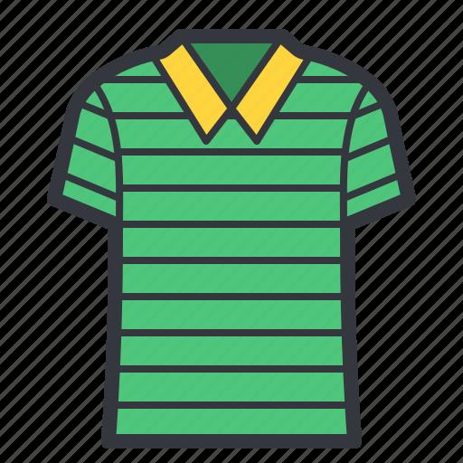 fashion, green, stripped, tshirt icon