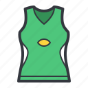 fashion, green, tank, top icon