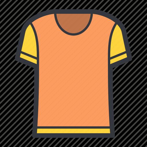 fashion, orange, tshirt icon