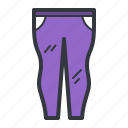 clothing, fashion, fitted, pants, purple, trousers icon