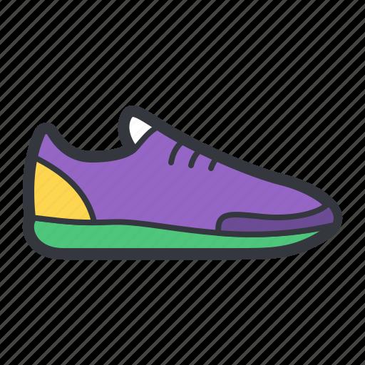 purple, running, shoe icon