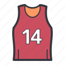 jersey, orange, red, sports icon