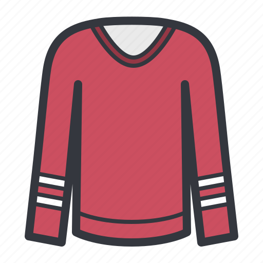 clothes, red, sporty, sweater icon