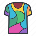 colorful, dye, tie, tshirt icon