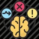 abnormal, brain, confuse, dysfunction, error