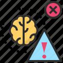 brain, danger, error, hazard, risk icon