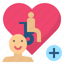 caregiver, carer, caretaker, disable, handicapped icon