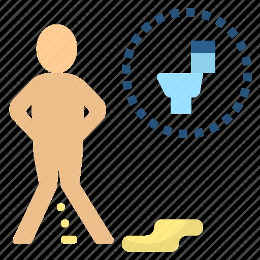 enuretic, incontinent, piss, toilet, urine icon