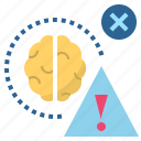 brain, danger, error, hazard, risk icon