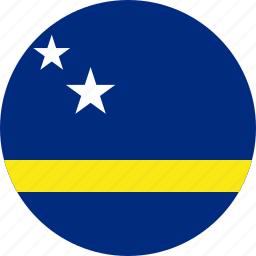 curacao, flag icon