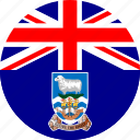 falkland, flag icon