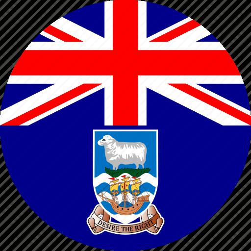 falkland, flag icon