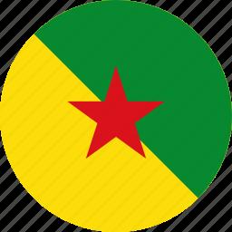 flag, french guiana, guiana icon